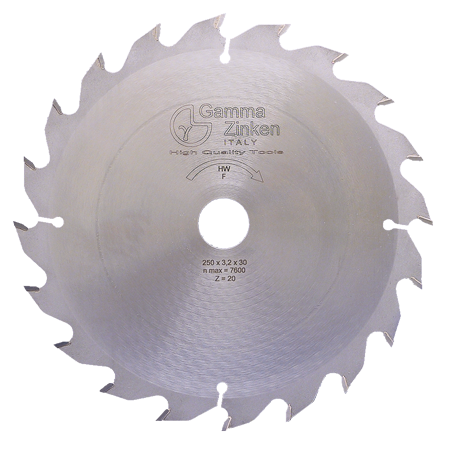F Flat toothed circular saw blade