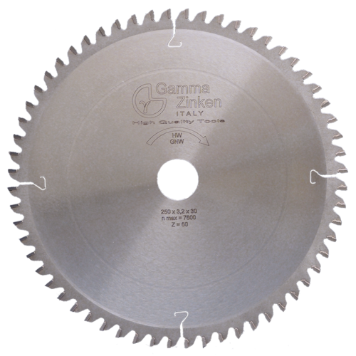 GNW Alternate circular saw blade - negative hook angle