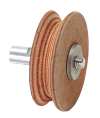 Profiled leather honing wheel for WG250, WG200