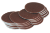 Pack of 50 mm velcro abrasive discs