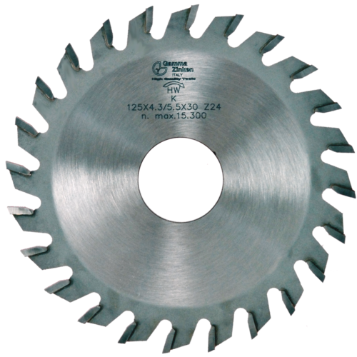 K Conical toothed scoring saw blade for panel